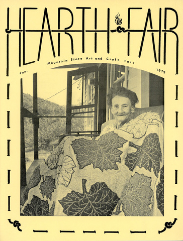 Blanche McDonald on cover of first Hearth and Fair